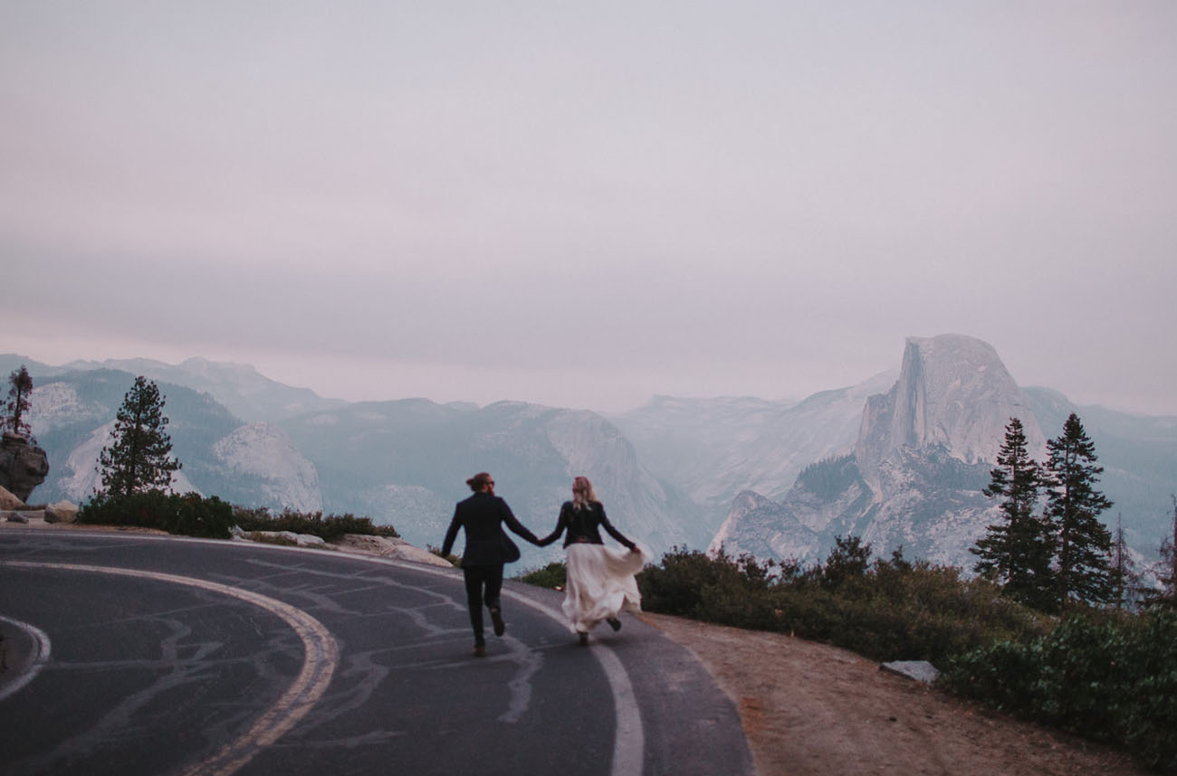 Edgy Bohemian Yosemite Elopement