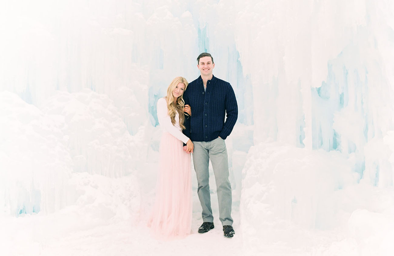 Move Over Elsa: A Wintry Engagement Shoot at an Ice Castle