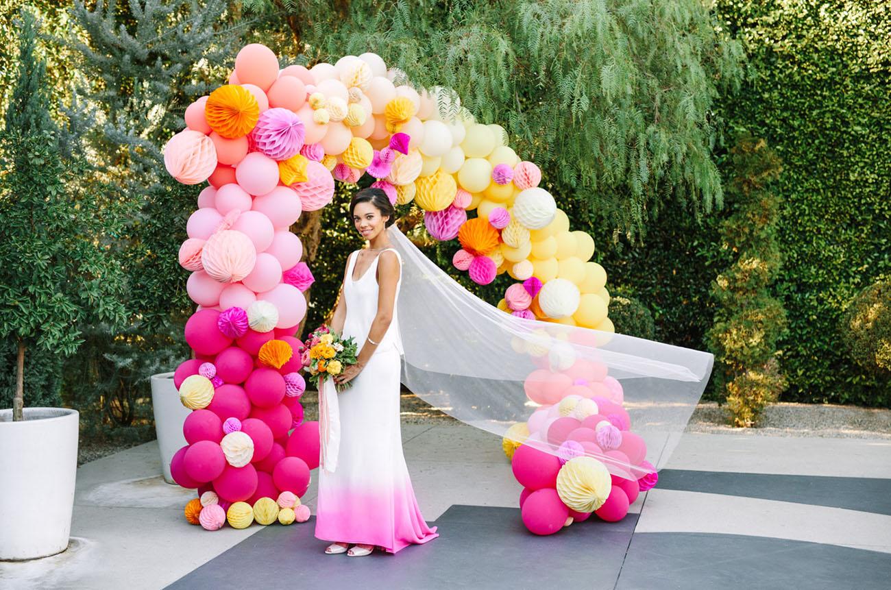 pink dip dyed dress