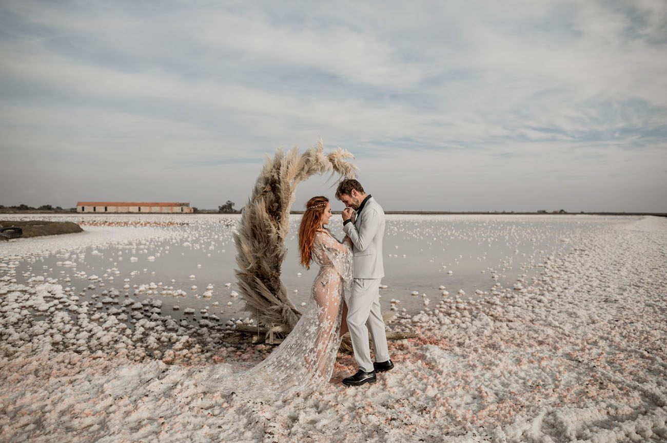 the Pink Sea elopement