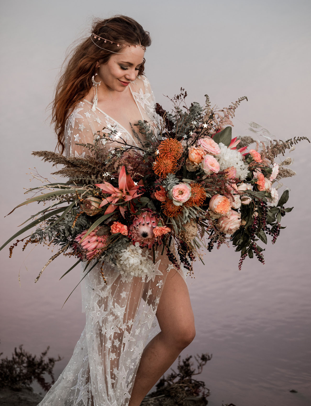 big blush bouquet