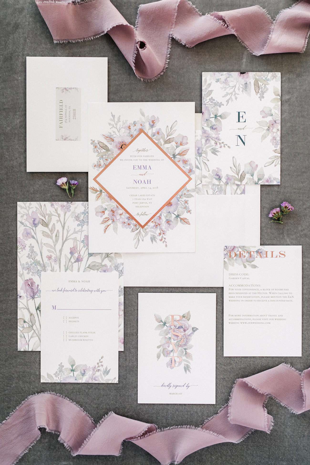 Diamond Blossoms Custom Wedding Invites with Shutterfly