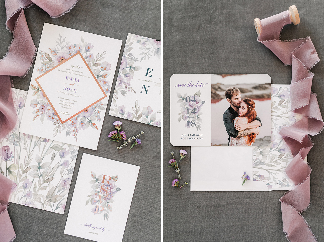 Diamond Blossoms Wedding Invites with Shutterfly