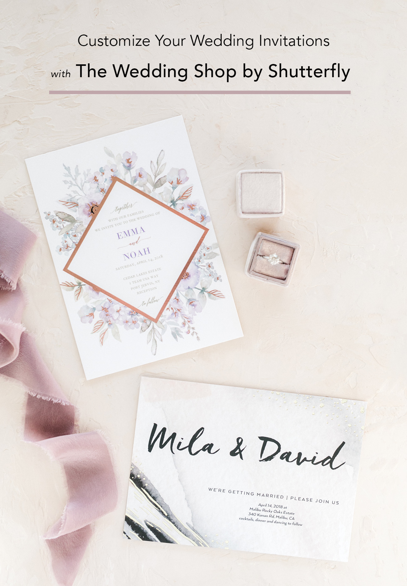 Customize Your Wedding Invites with The Wedding Shop by Shutterfly