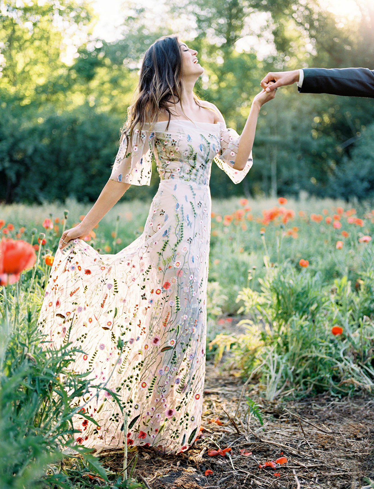 Wildflower Gown Wedding Inspiration