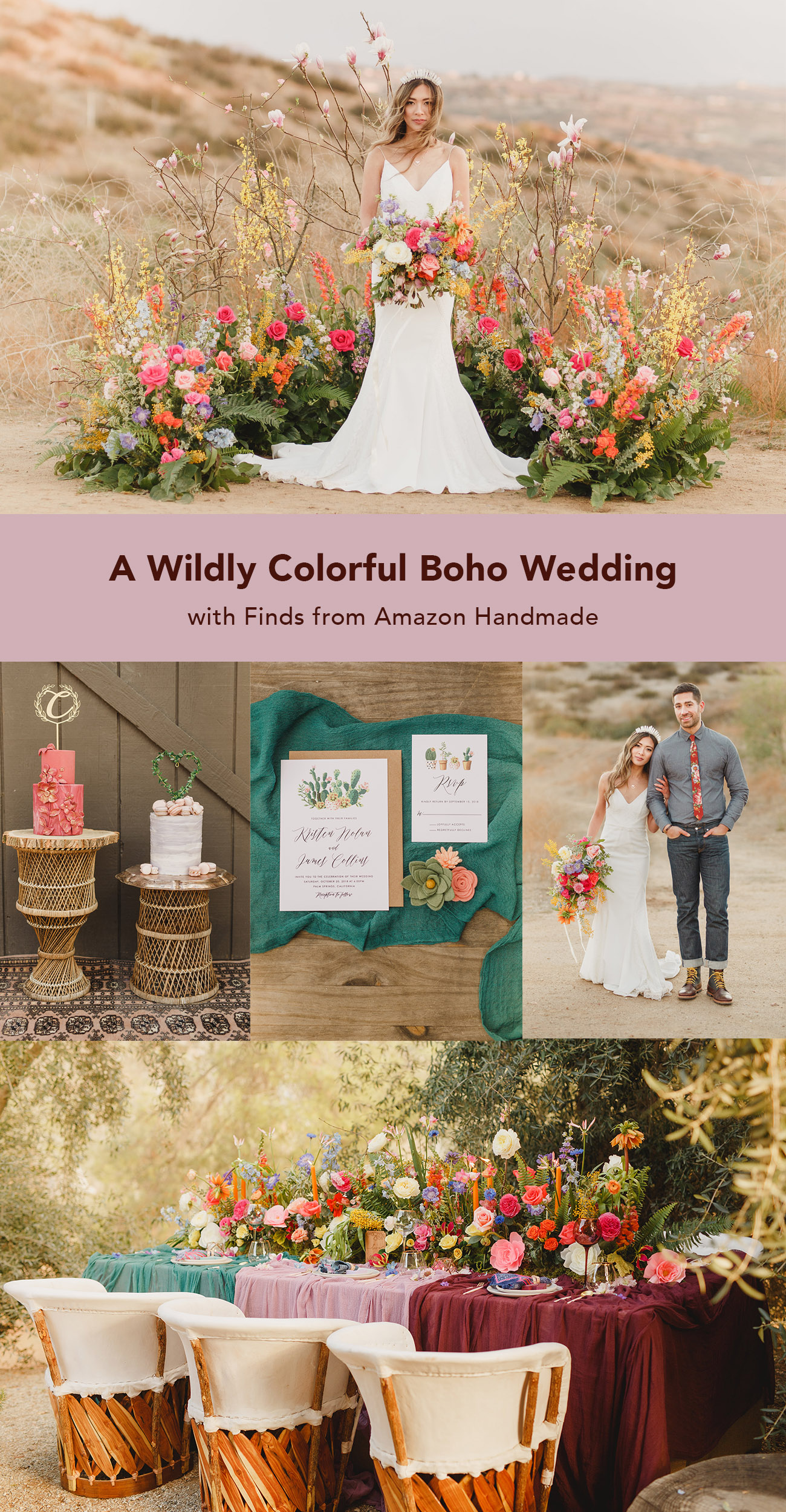 A Wildly Colorful Boho Wedding with Finds from Amazon Handmade