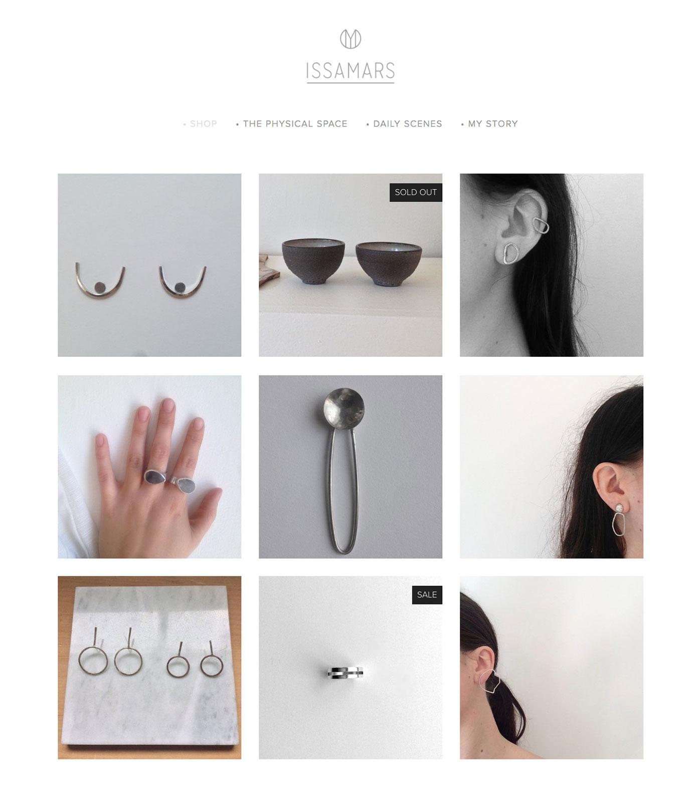 Issa Mars Jewelry on Squarespace