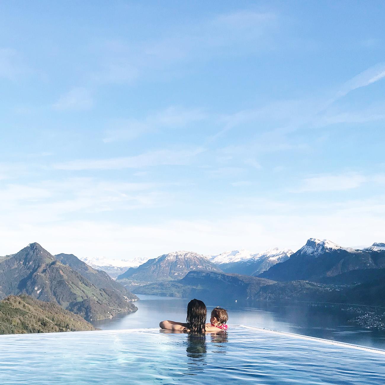Amazing Pool at the Hotel Villa Honegg Switzerland