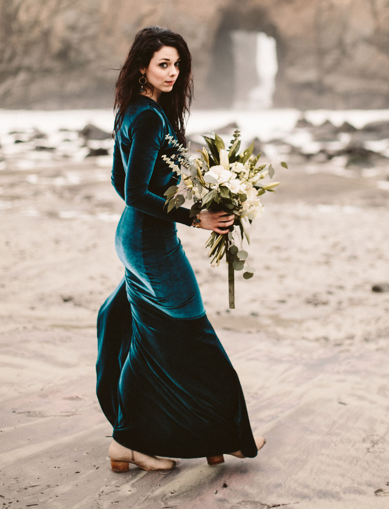 Haleigh S Velvet Wedding Dress Is Bespoke But We D Start Here For A Similar Look