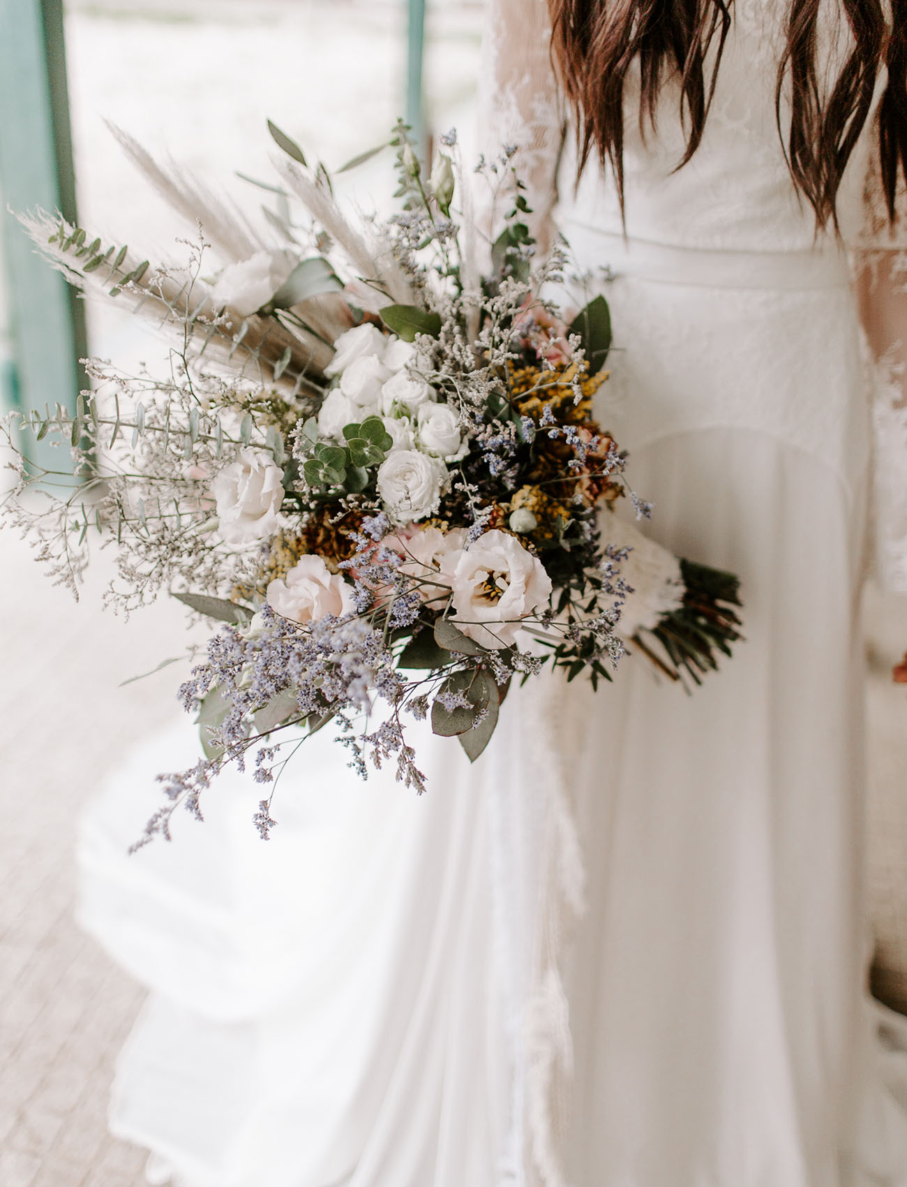 ash colored bouquet