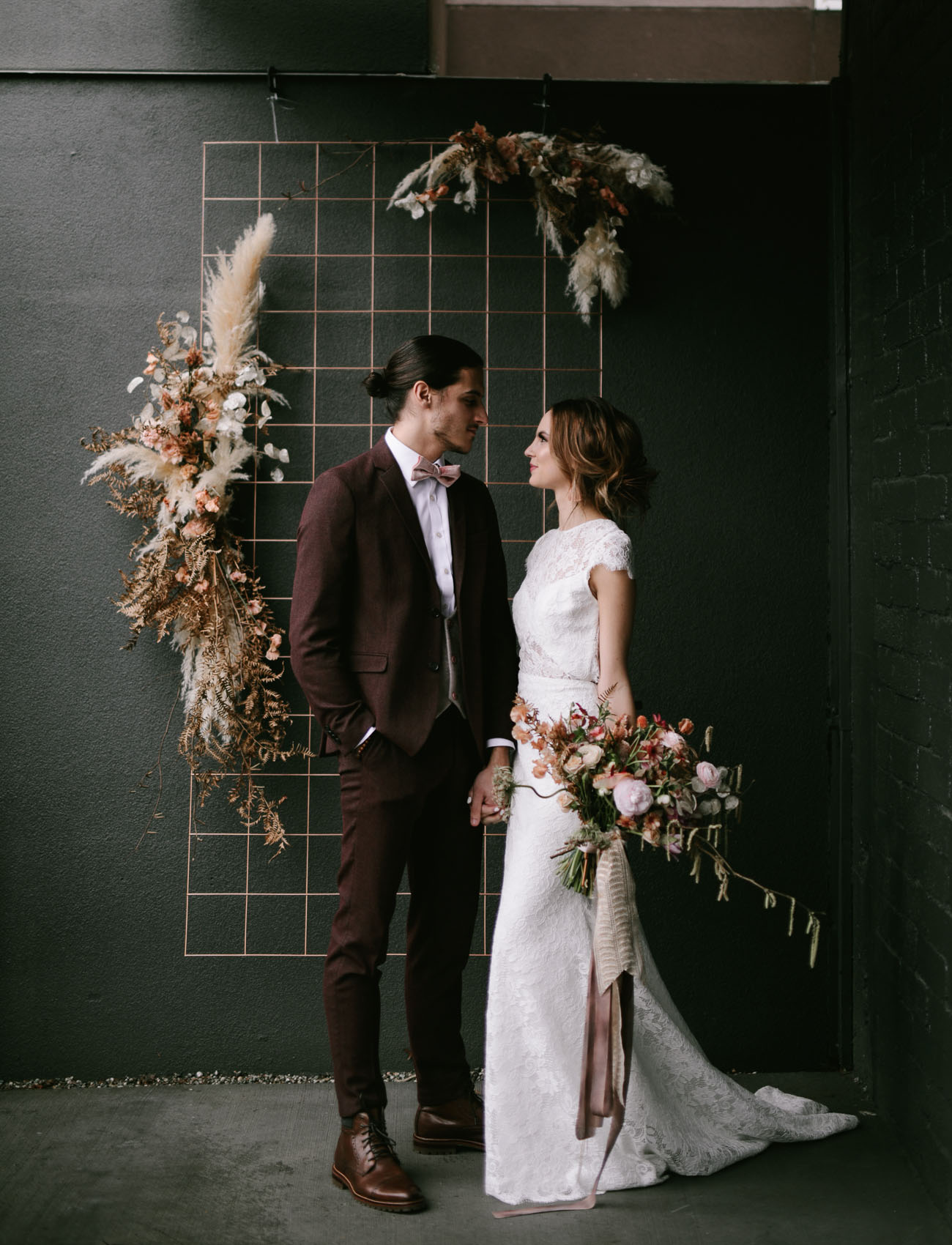 For the bride  an all-lace wedding dress with a long train by Anais Anette 31a29ad12