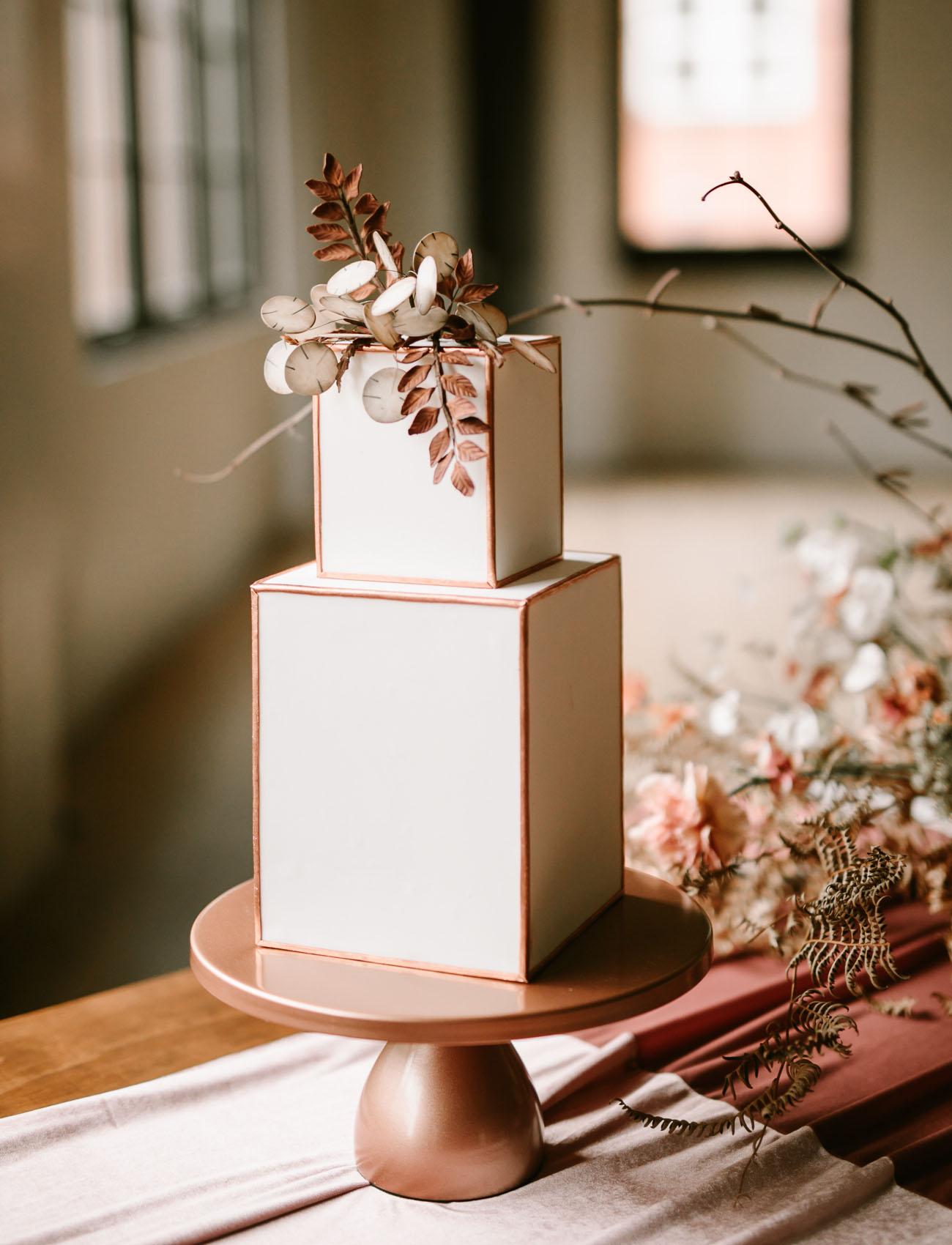 modern box cake