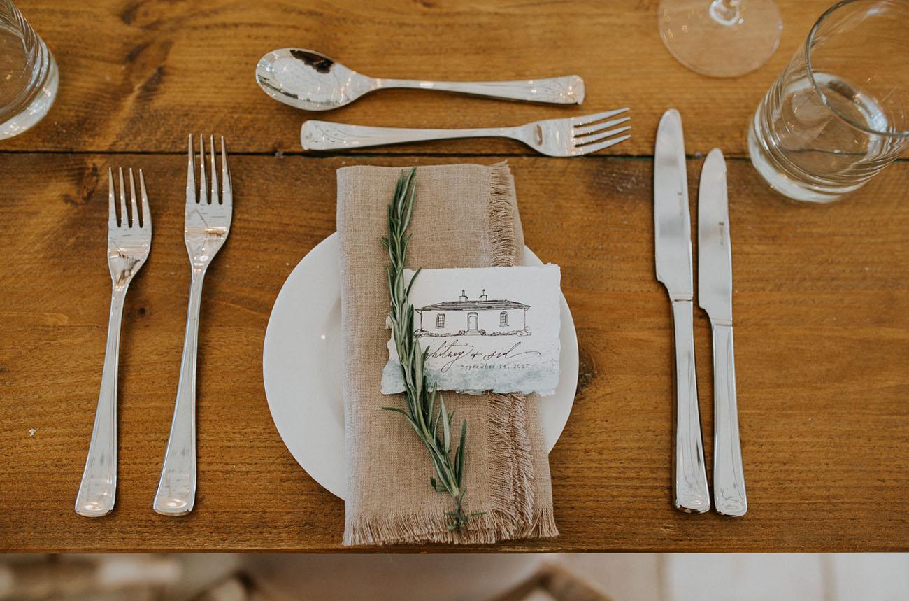 rosemary plate setting