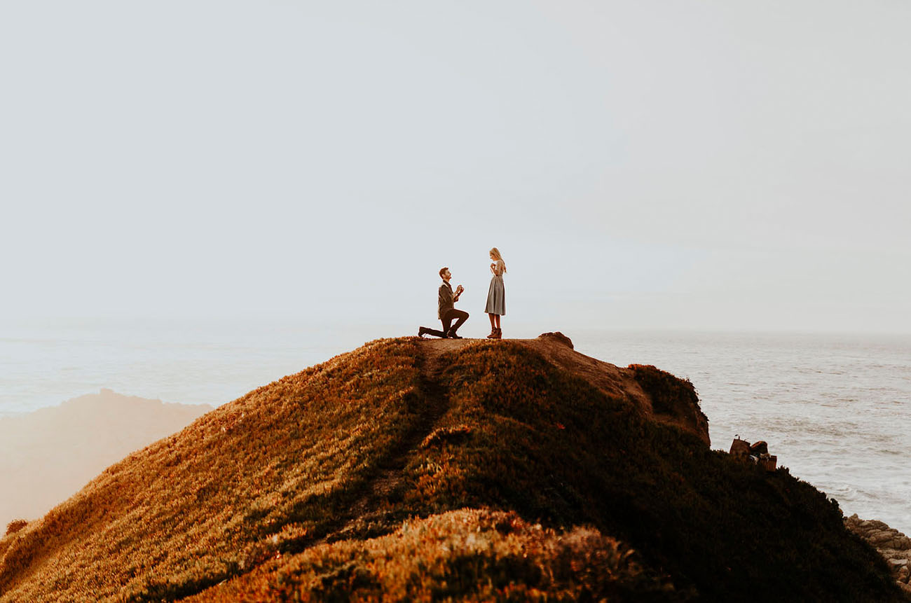 Secret Cliffside Proposal in Big Sur