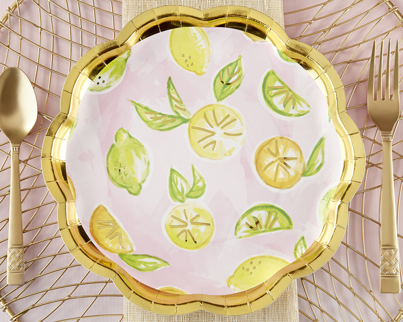 Citrus Paper Plates from Kate Aspen