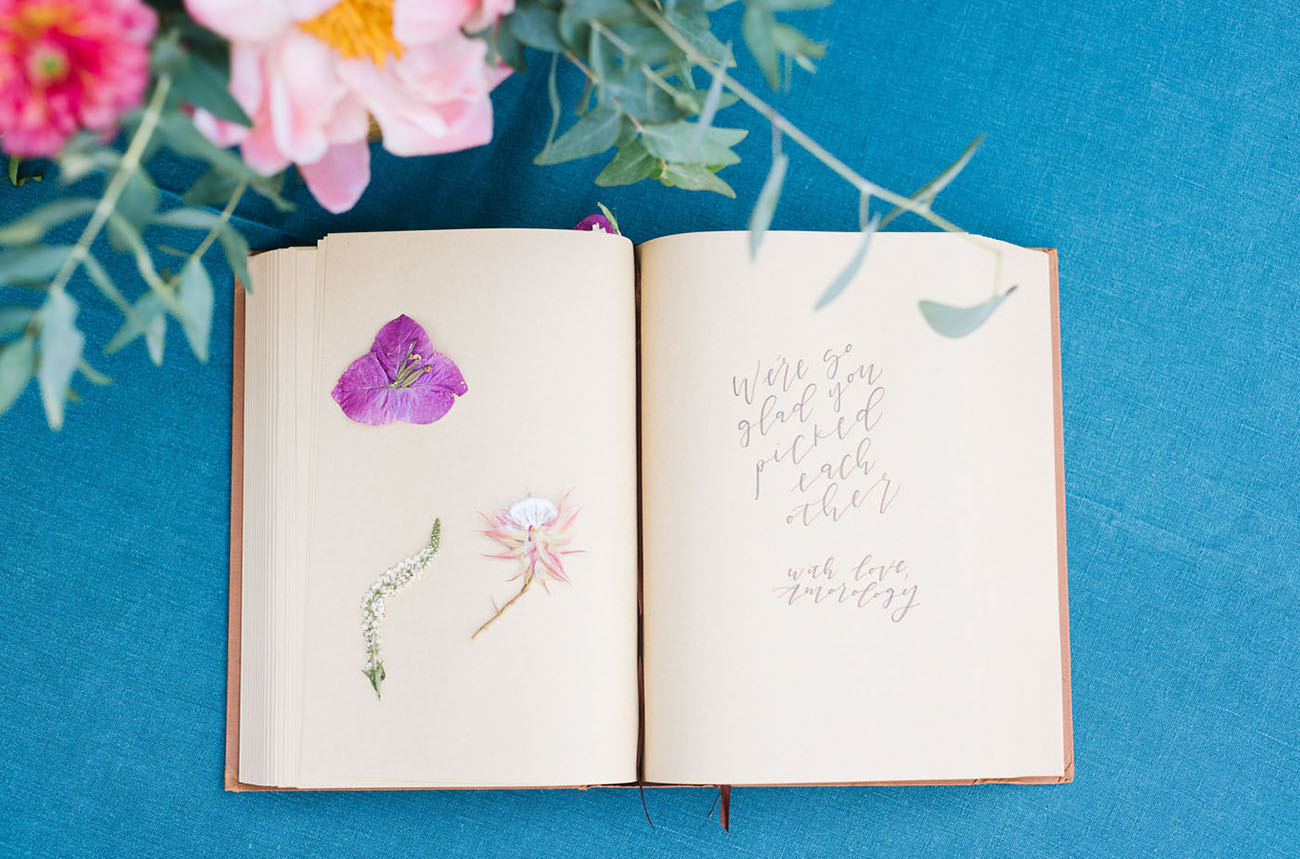 pressed flower guest book