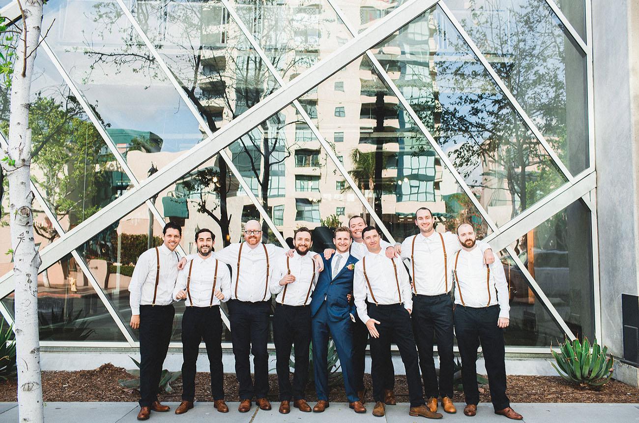 suspender groomsmen