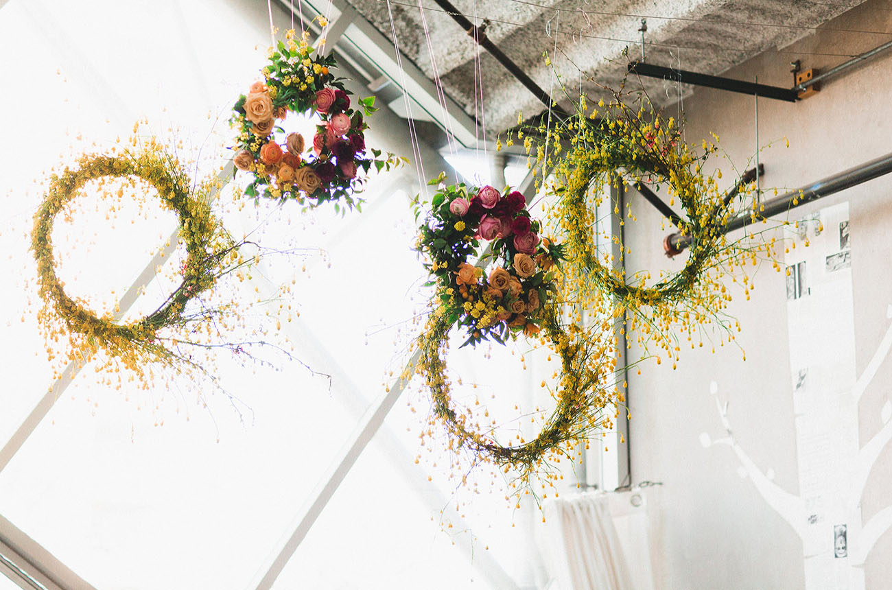 hanging floral wreaths