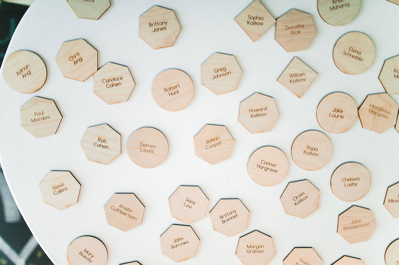 hexagon name cards