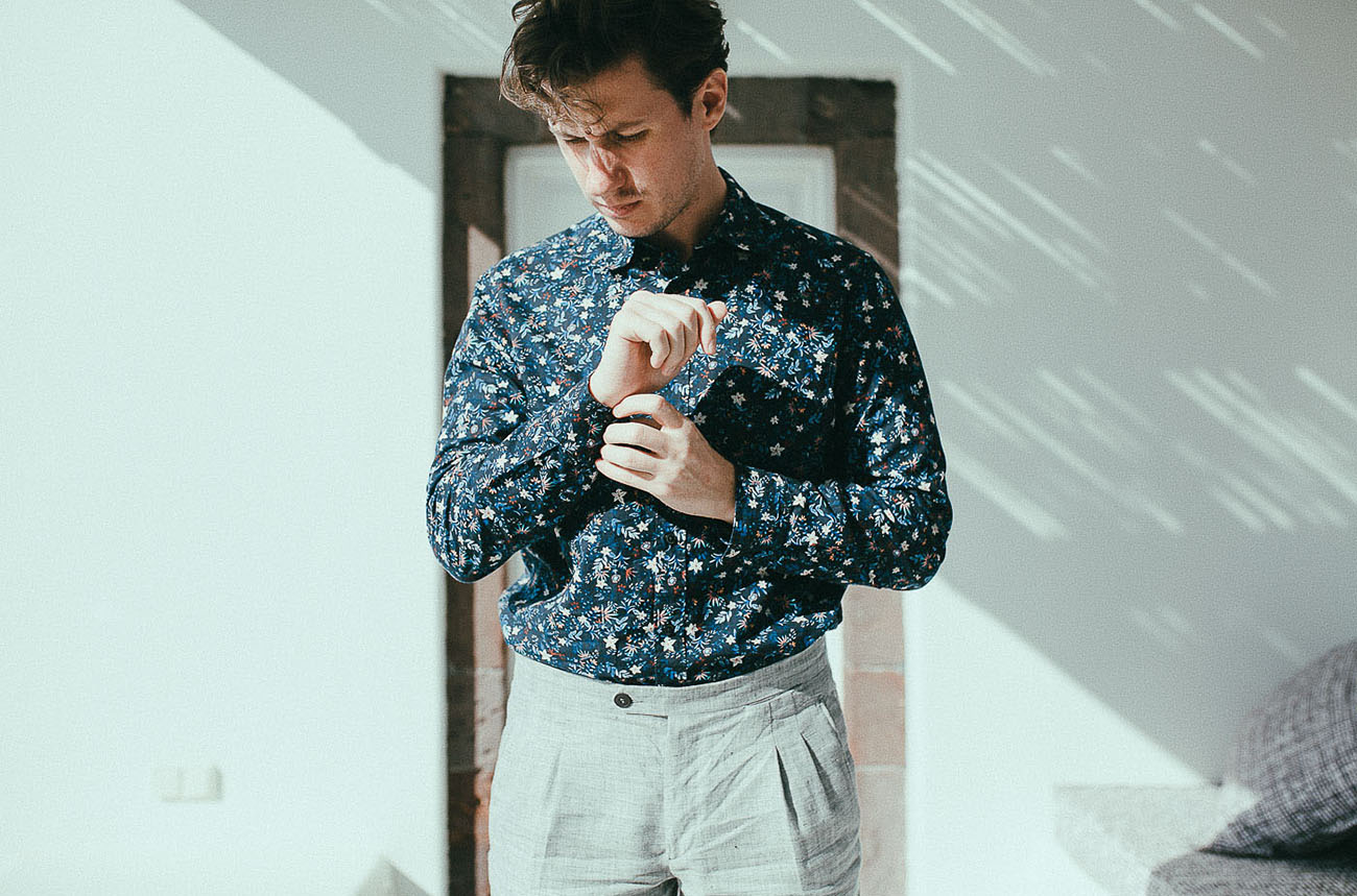 floral groom shirt