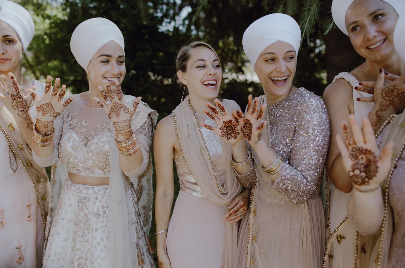 henna bridesmaids