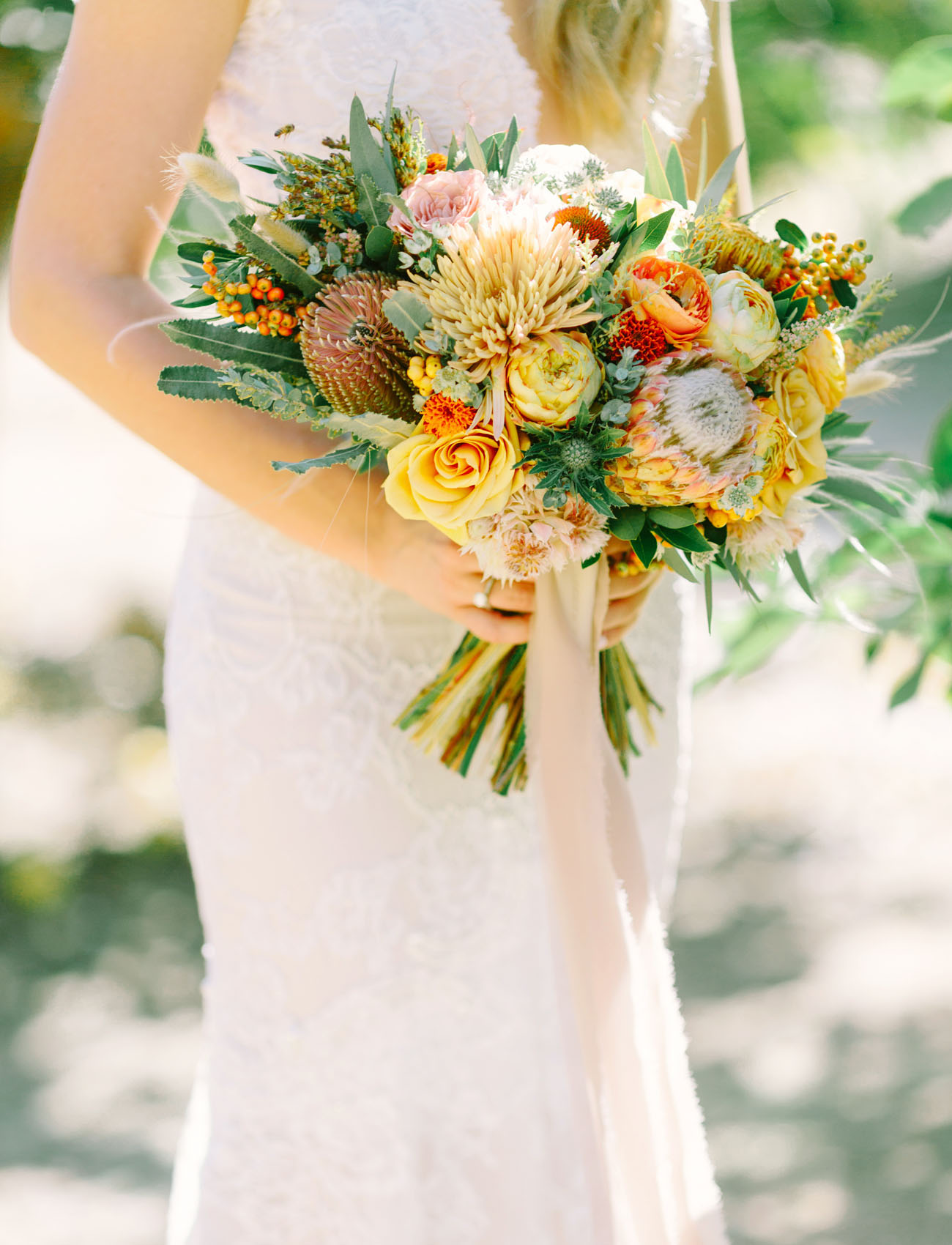 yellow desert bouquet
