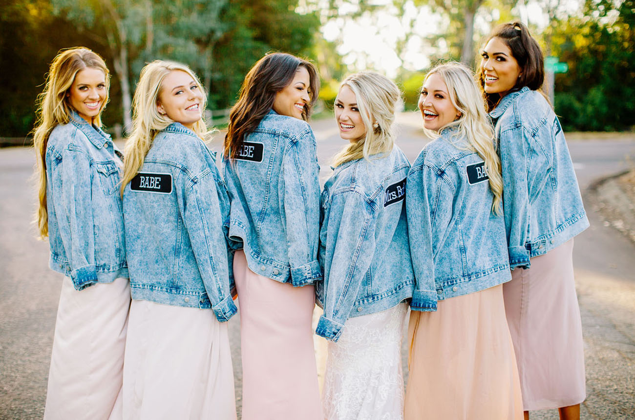 bridesmaids jean jackets