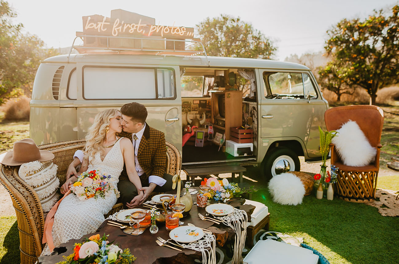 70s inspired wedding