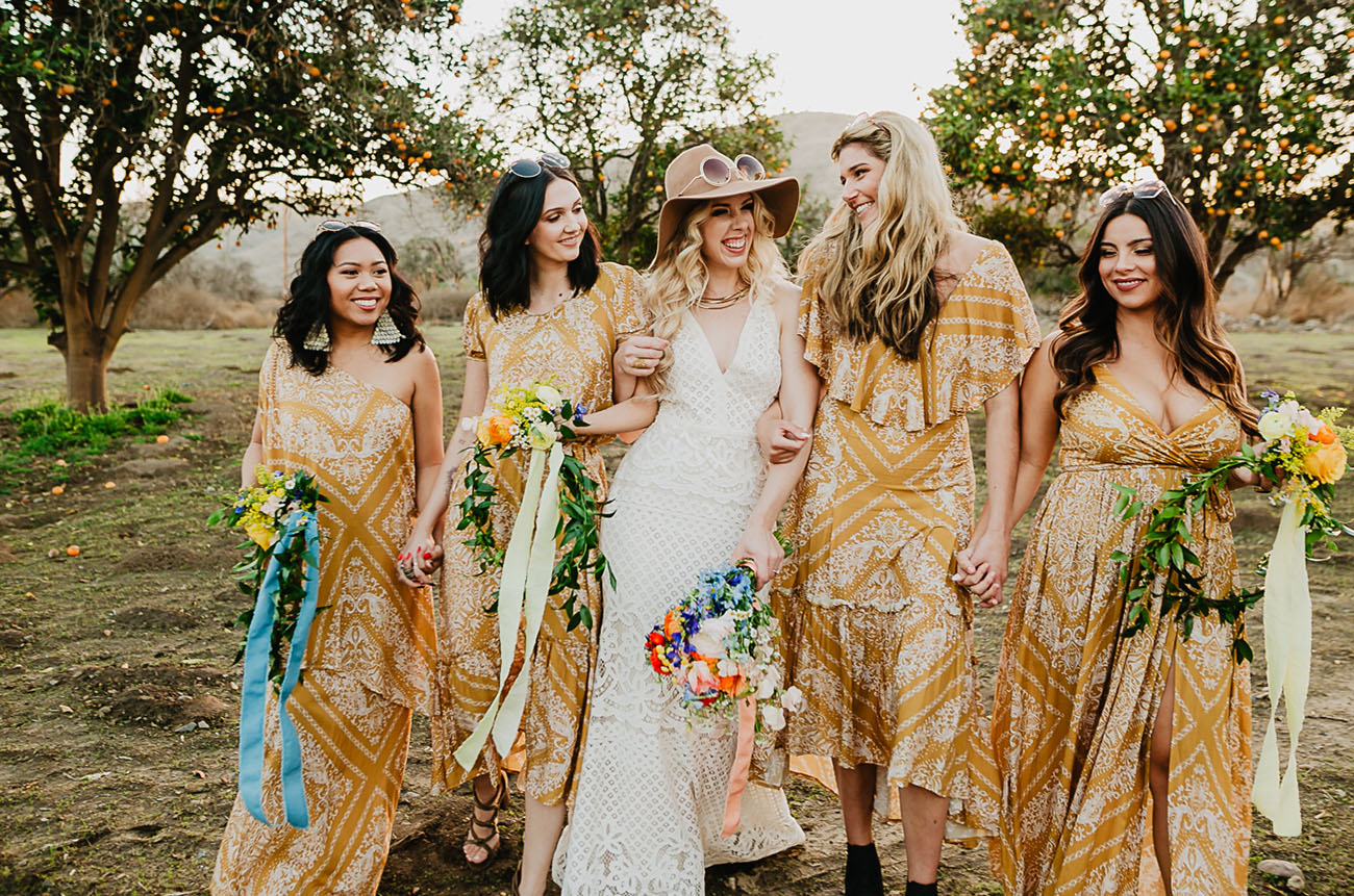e10620f707d Here Comes the Sun  Groovy Mustard Yellow  70s Wedding Inspiration ...