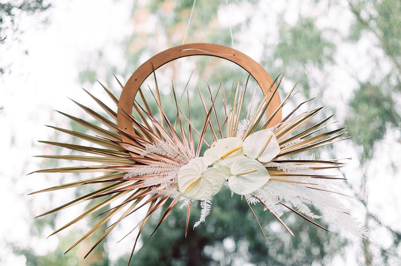 hoop florals
