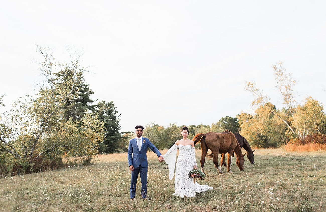 Harmony in the Hudson Valley: A Modern Boho Wedding at a Dressed Up Barn in New York