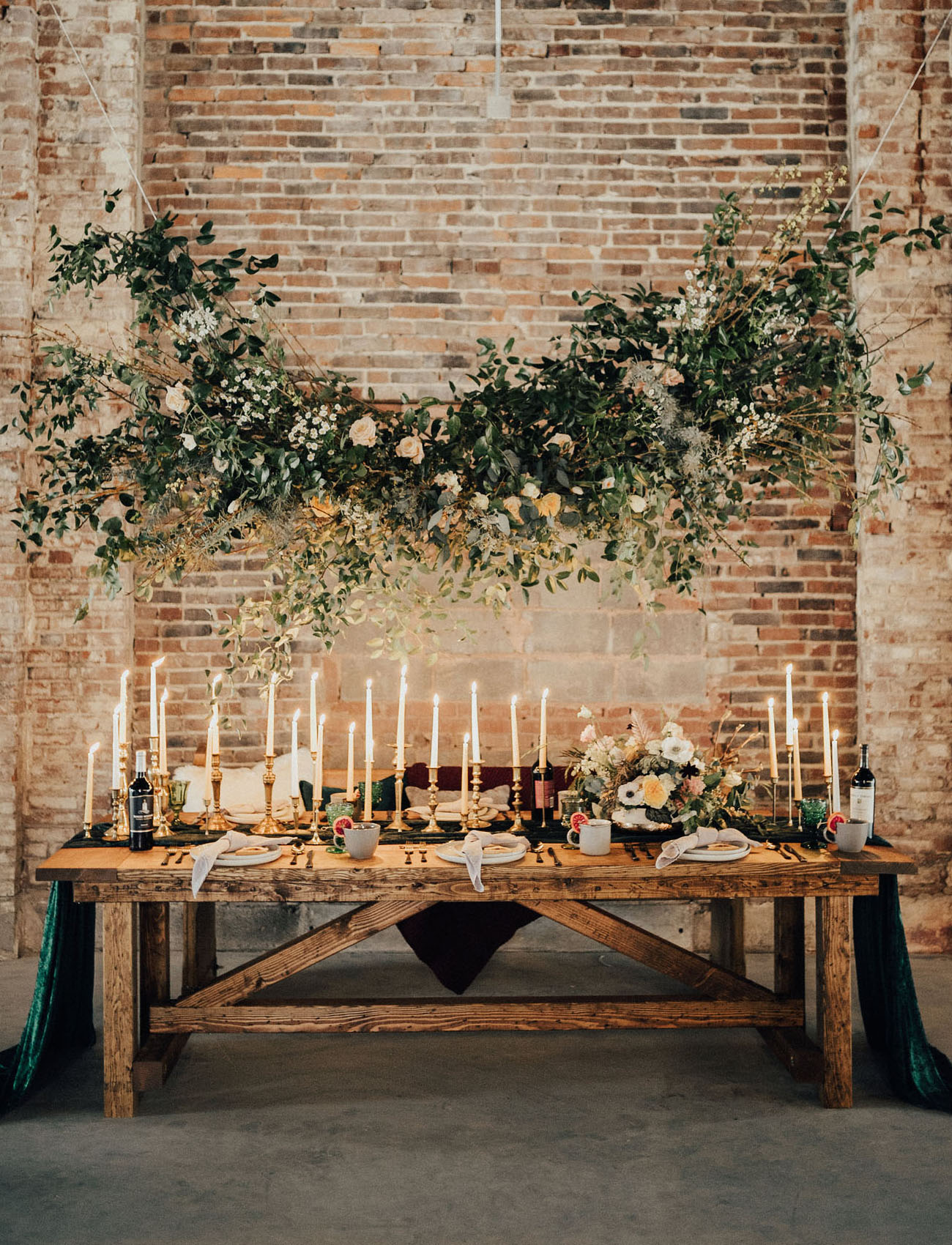 tall candle tablescape