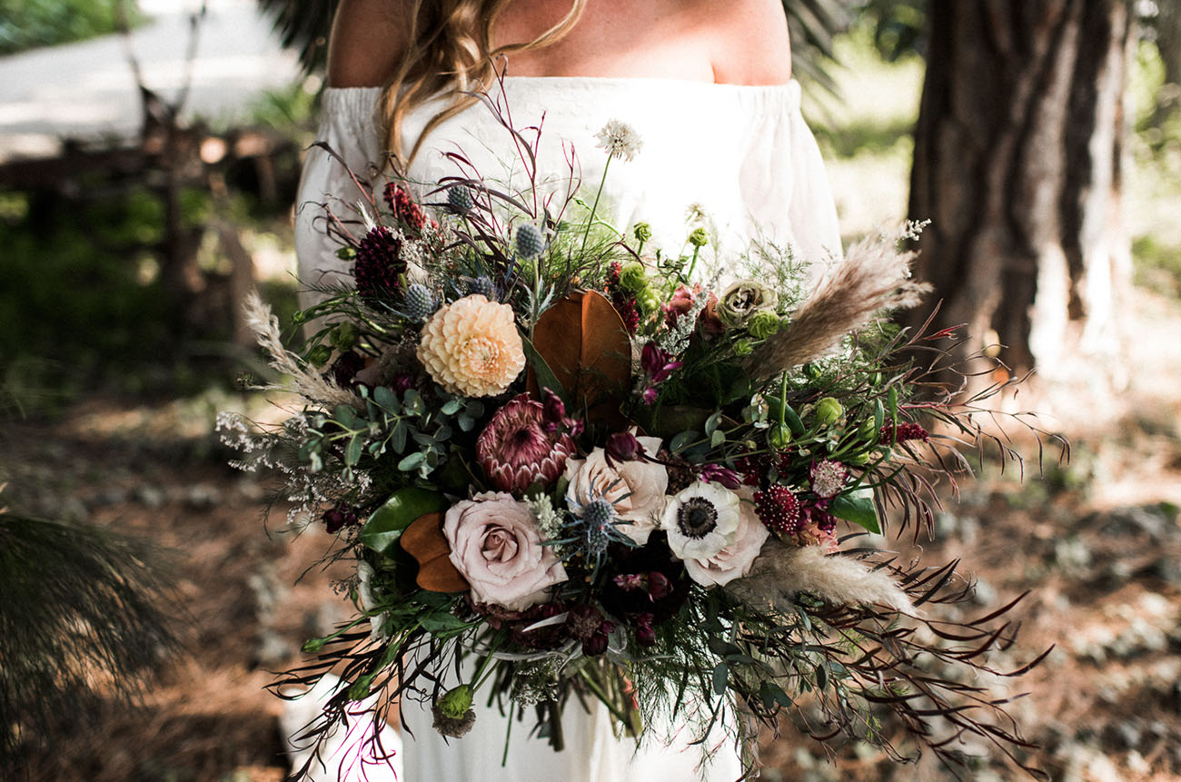whimsical loose bouquet