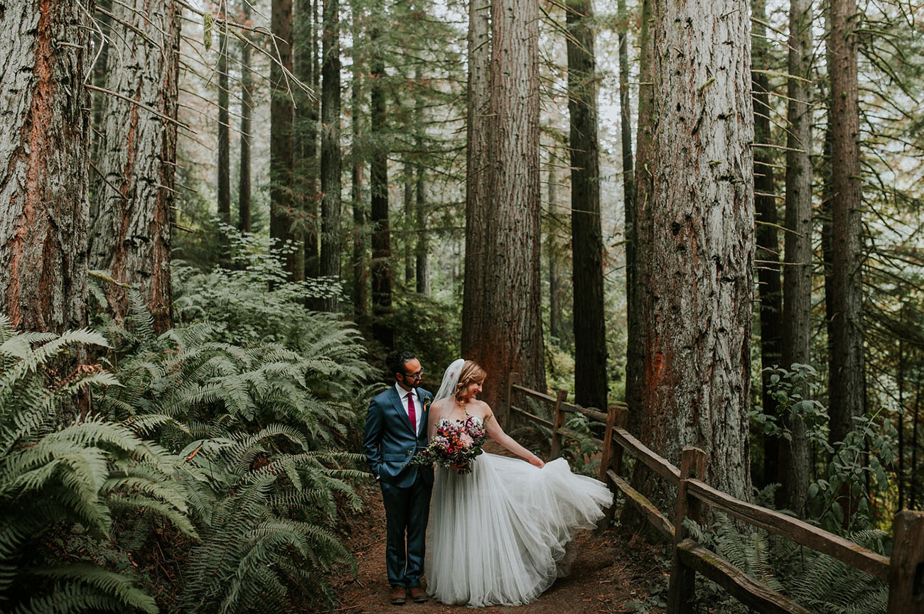 Amongst the Redwoods: A Pacific Northwest Wedding with a Backdrop Made of Hops!