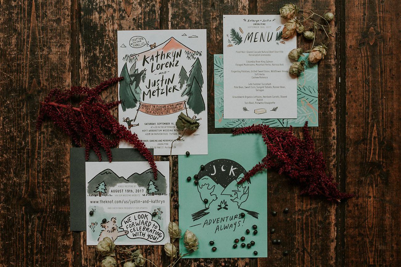 illustrative wedding invitation