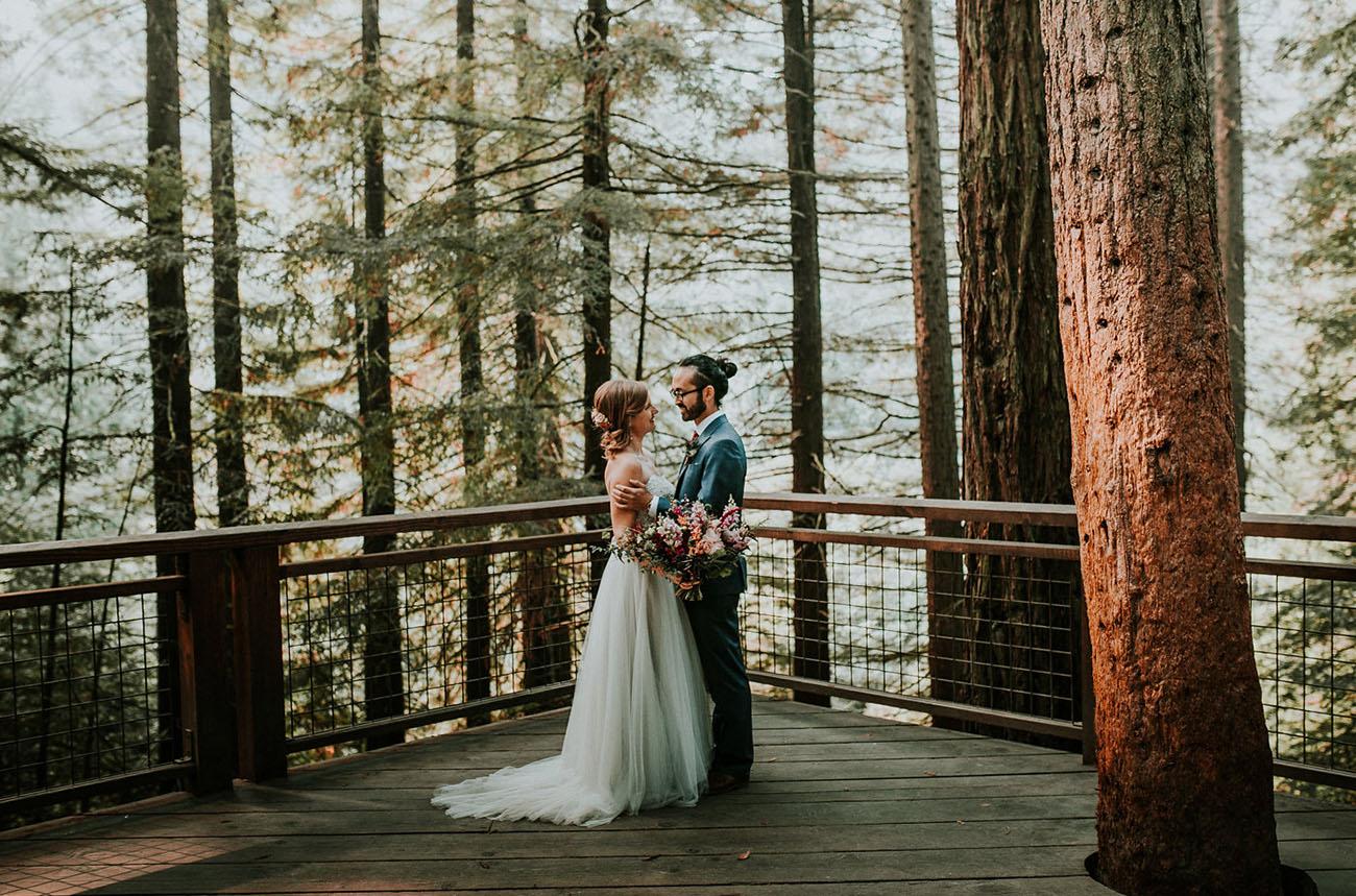 Portland Oregon Forest Wedding