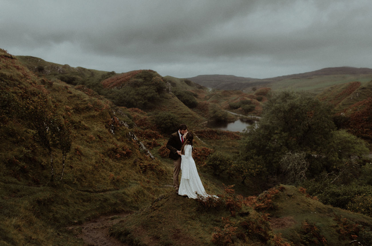 Enchanting + Foggy Isle of Skye Wedding in Scotland