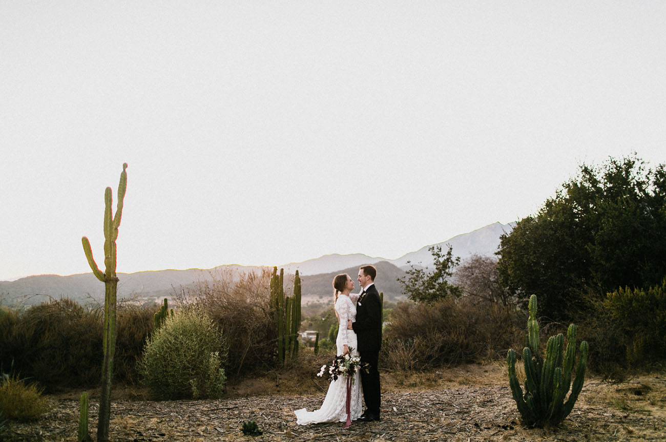 Moody Florals + Bridesmaids in Black Make for a Dreamy Ojai Wedding