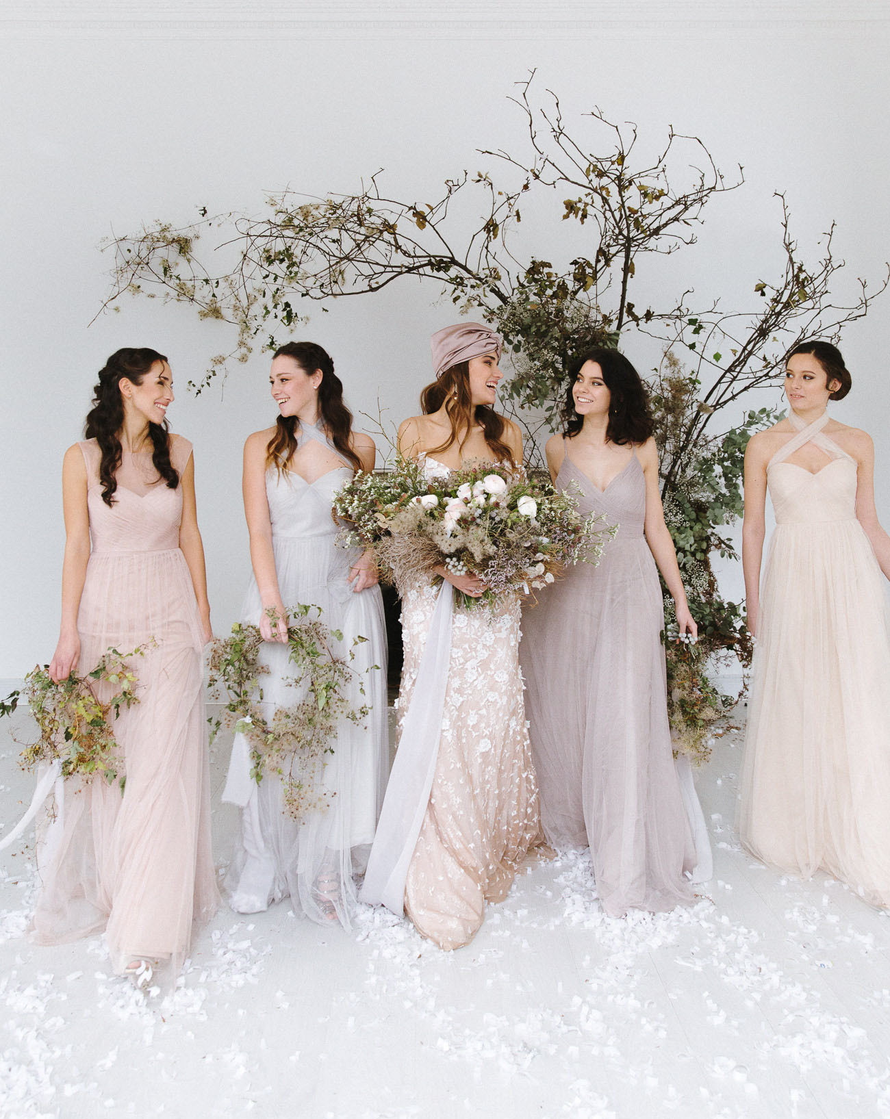 pale bridesmaid dresses