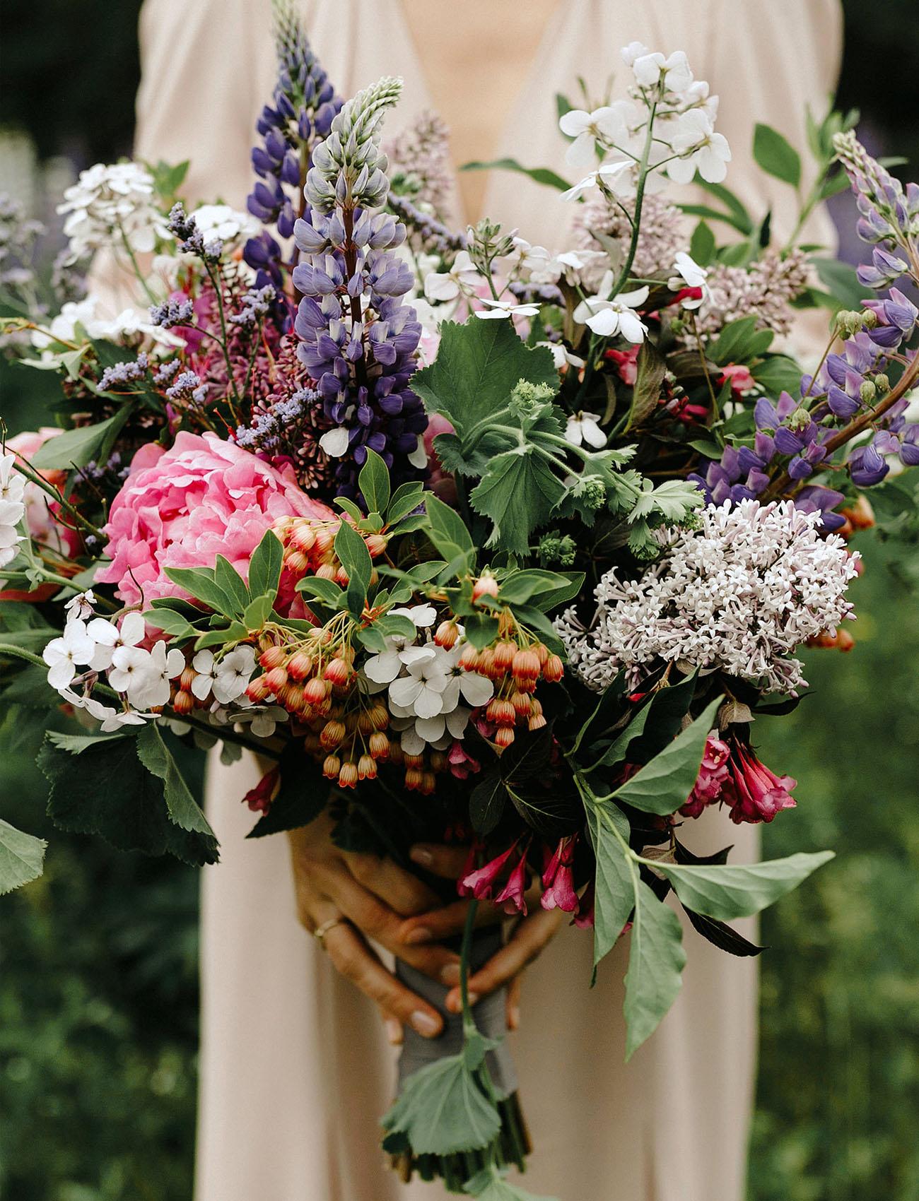 peony wildflower bouquet