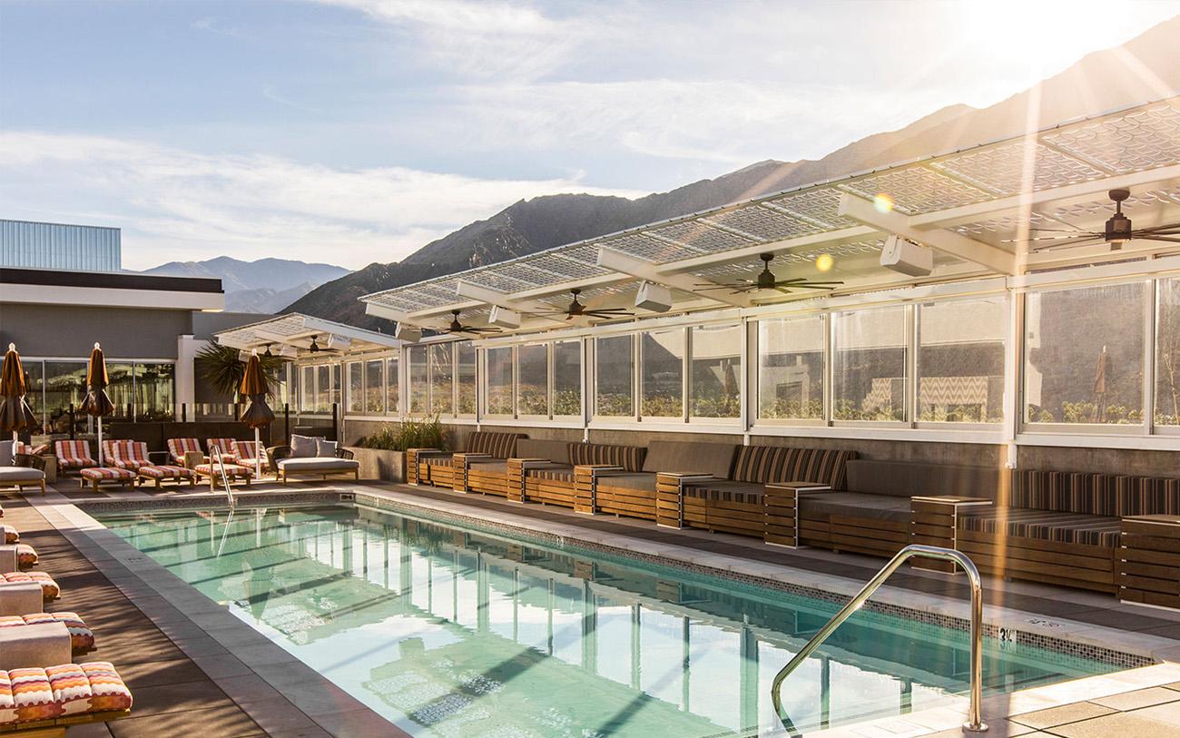 The Rowan Palm Springs Rooftop Pool