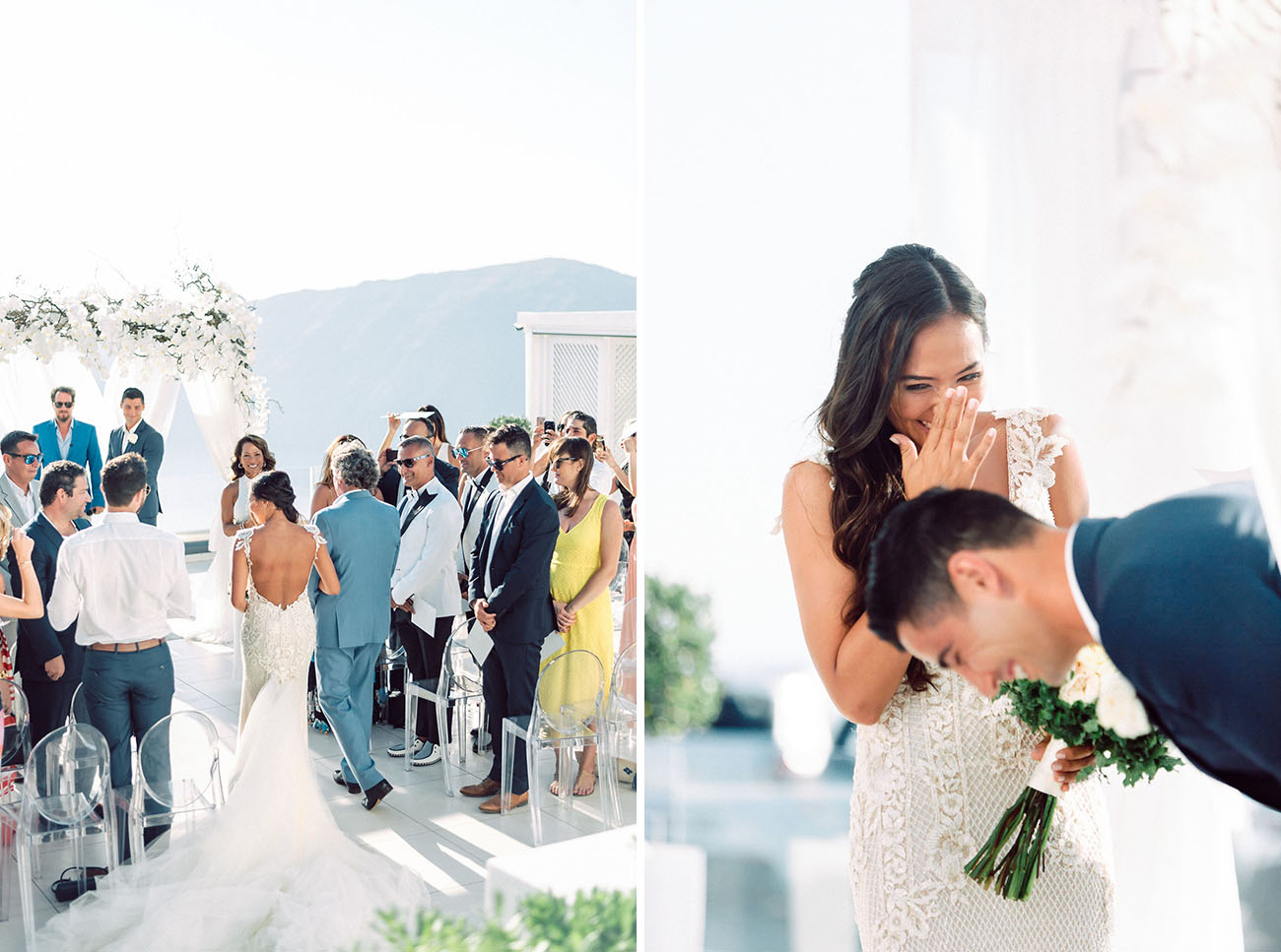 Glam Santorini Wedding