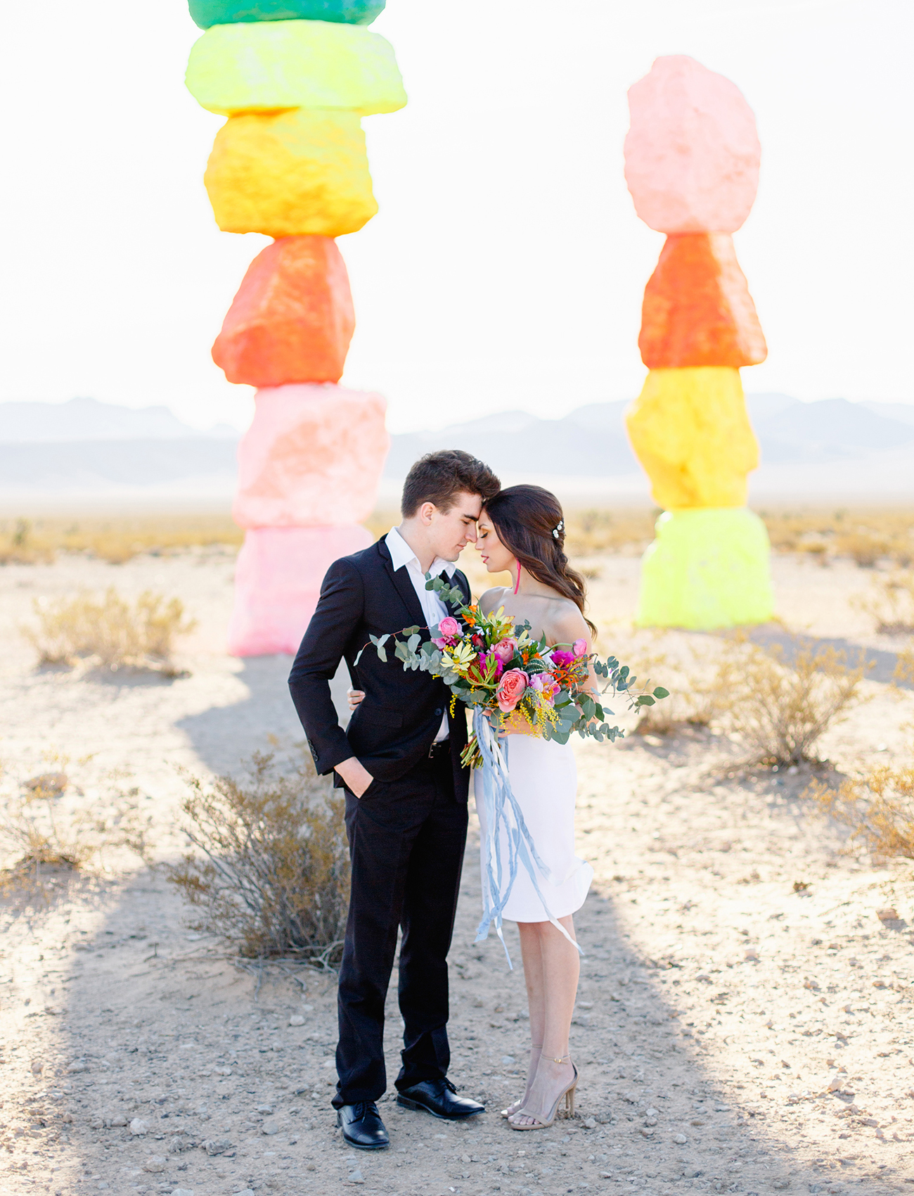 Colorful Desert Elopement Inspiration at Seven Magic Mountains