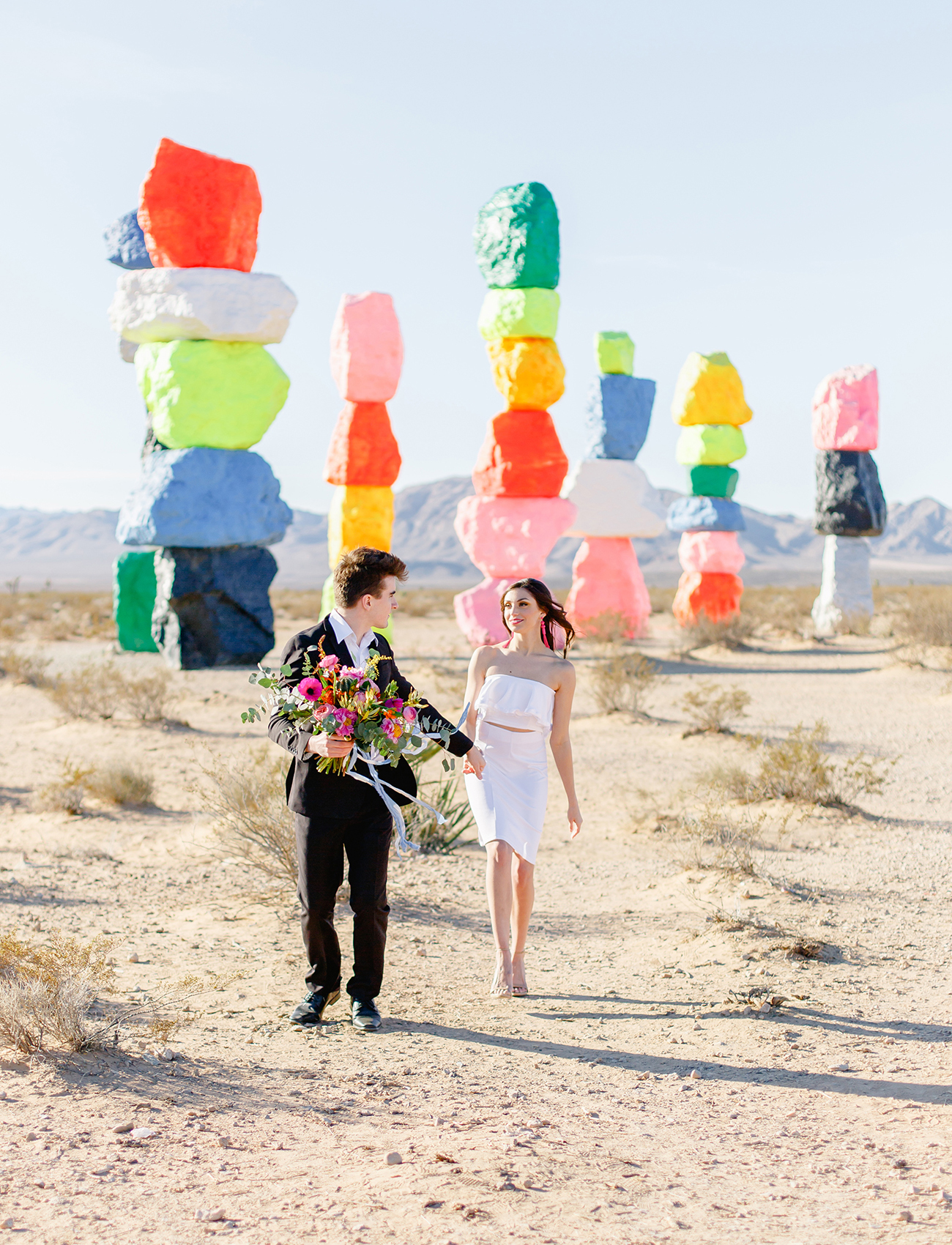 Seven Magic Mountains Wedding Inspiration