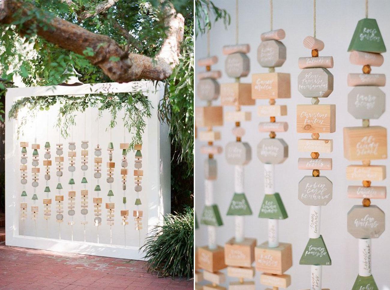 Amorology Hanging Block Escort Cards