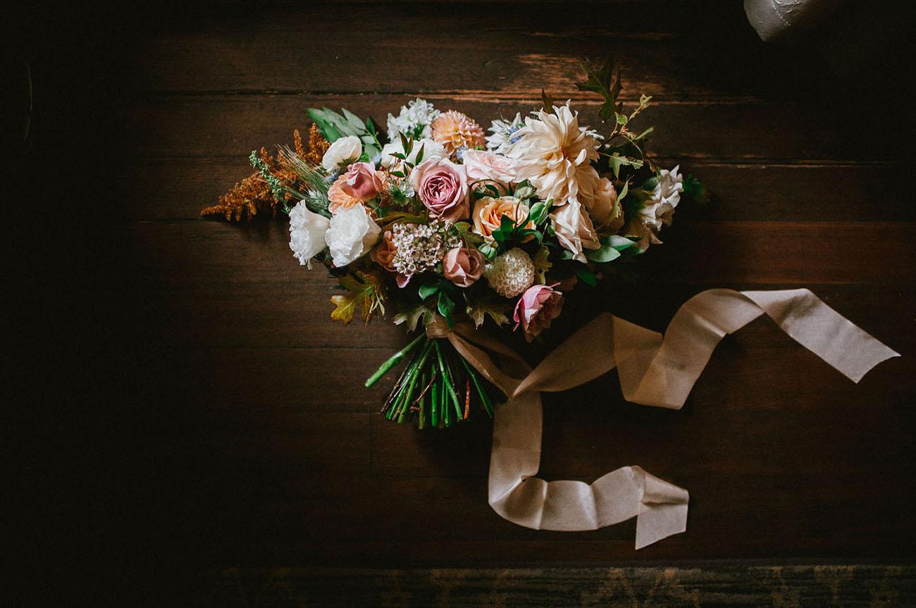 peach floral bouquet