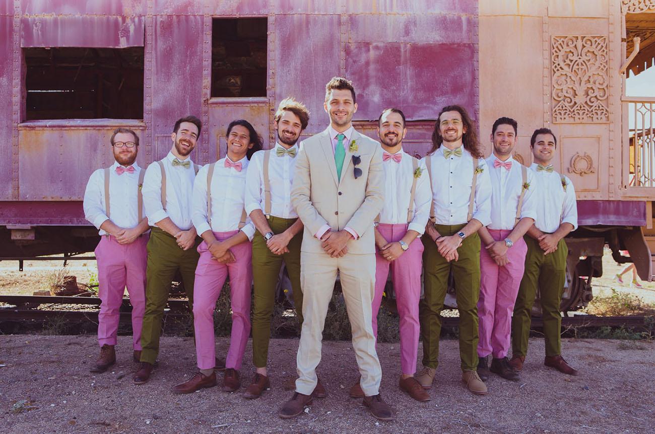 pink groomsmen