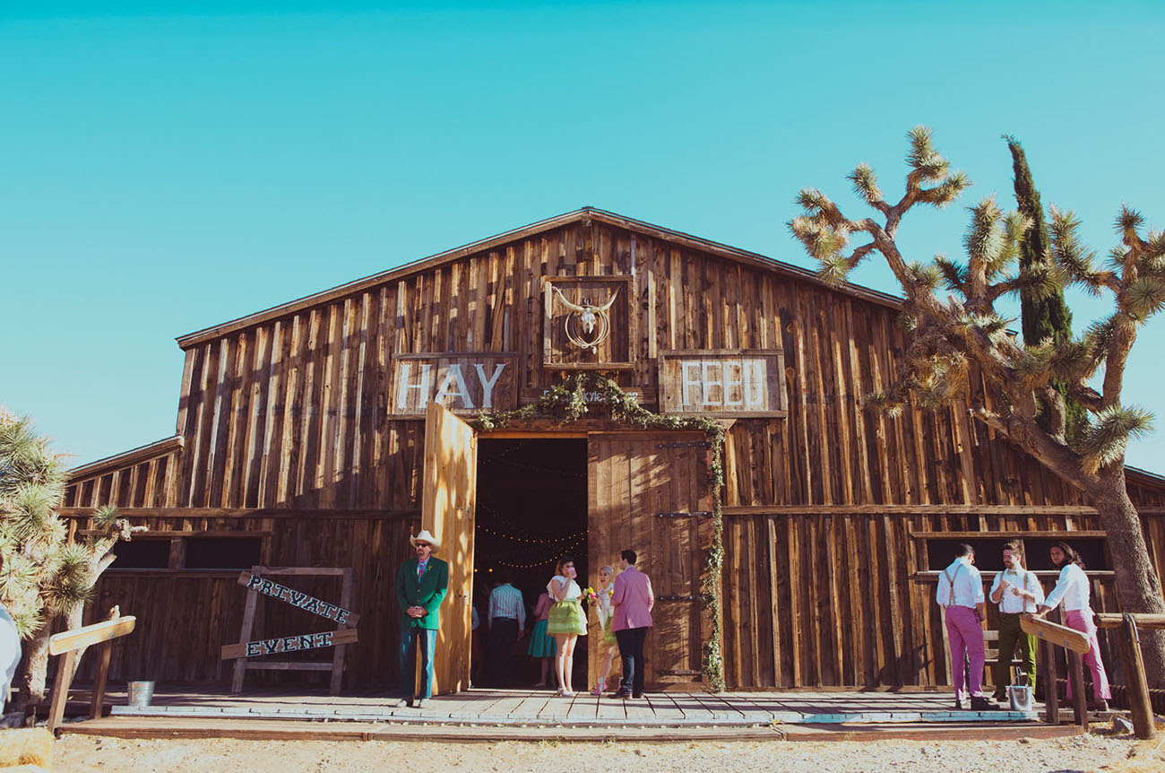 Wes Anderson Pioneertown Wedding