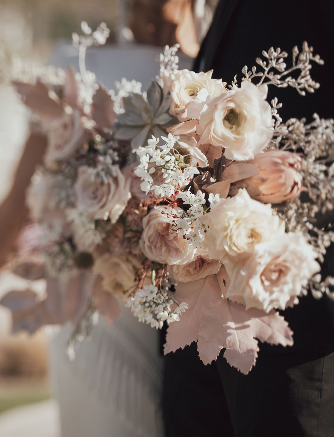 muted pink bouquet