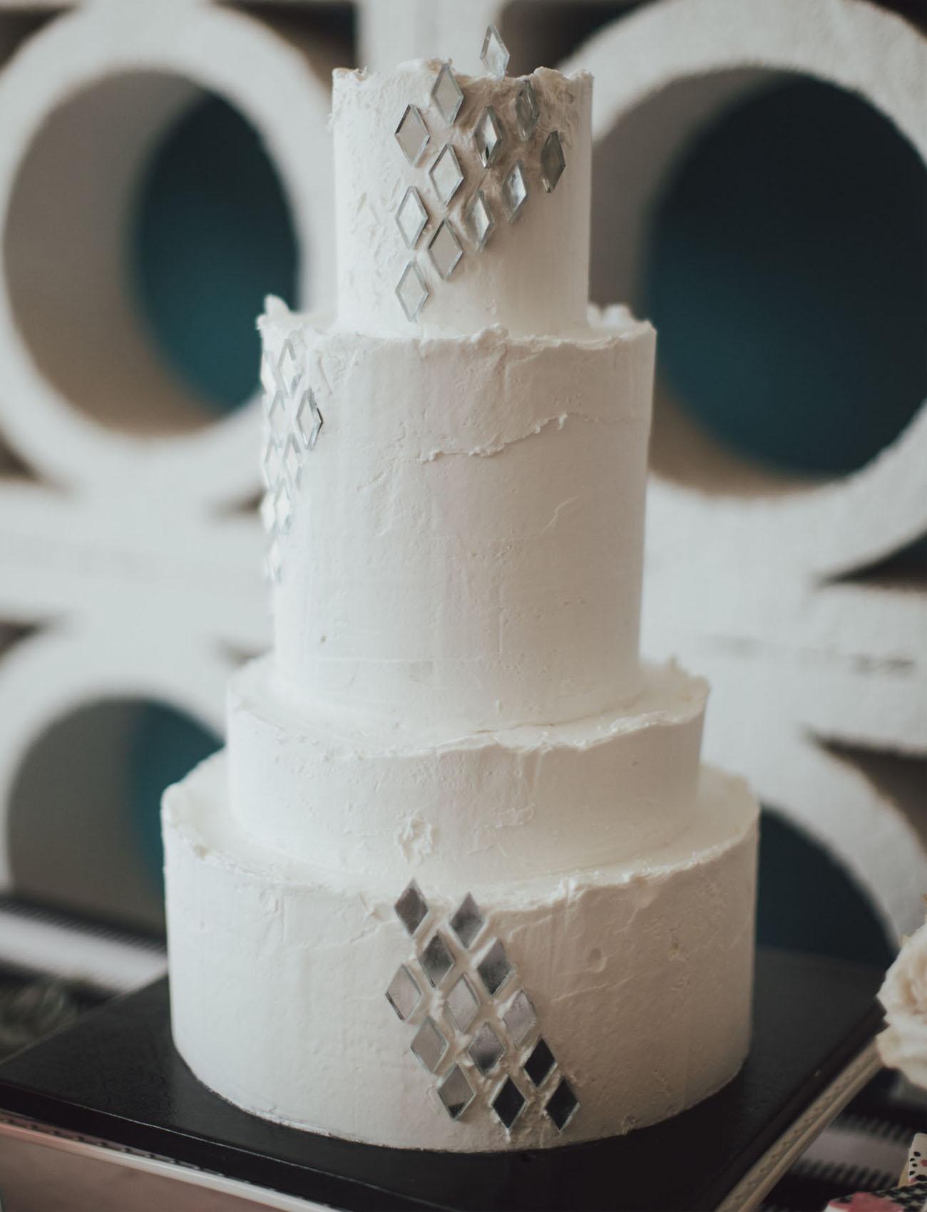prism wedding cake